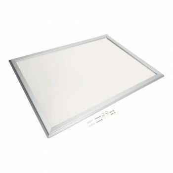 Wissellijst 'Snaplock' enkelzijdig, melkwit achterpaneel, aluminium lijst, zilver metaal, 70 x 50 cm