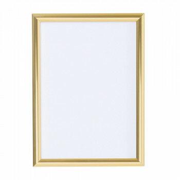 wissellijst snaplock enkelzijdig, melkwit achterpaneel, aluminium lijst, goud metaal, A3, 42 x 30 cm