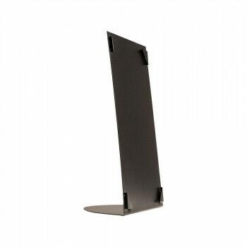 infohouder corner, tafelmodel, metaal, stevig en zwaar, geschikt voor drukwerk, zwart metaal, 23 x 32.5 cm