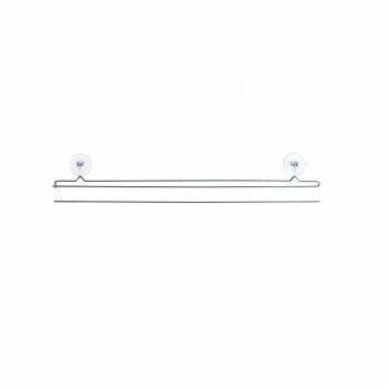 Hanger 'Smartpin' set boven/onder, grijs metaal, 60 cm