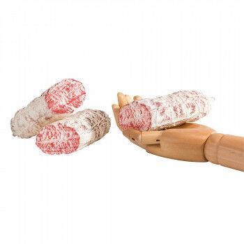 halve salami worsten, naturel kunststof, 13 x 5 cm