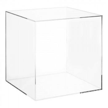 vitrinekubus met afneembaar deksel, transparant acrylaat, 30 x 30 x 30 cm