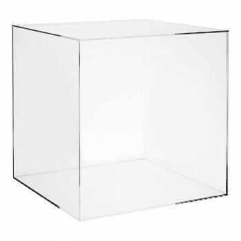 vitrinekubus met afneembaar deksel, transparant acrylaat, 40 x 40 x 40 cm