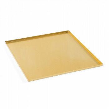 basisplateau geschikt als bodemplaat of deksel, goud metaal, 35 x 35 cm