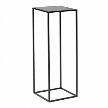 zuil quadro medium, zwart metaal, 25 x 25 x 69 cm