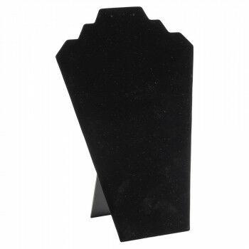 kettingdisplay luce velours finish, zwart kunststof, 11.5 x 21.3 x 31.5 cm