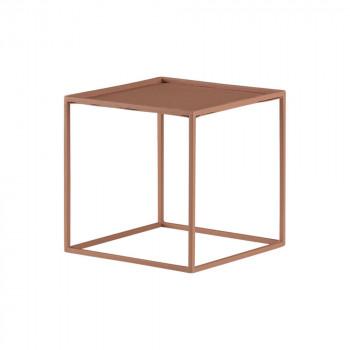 quadro mini s, kleine krachtpatser, 500 gram, speels hoogte geven, roze metaal, 16.5 x 16.5 x 16.5 cm