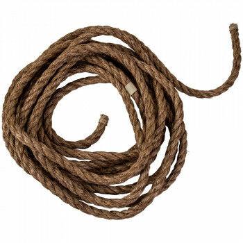 manilla touw 10 meter per rol, bruin natuur materiaal, 1.9 cm