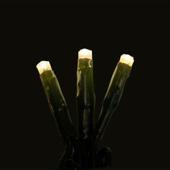 lichtsnoer voor binnen met 50 warmwitte lampjes en koppelbaar, groen kunststof, 500 cm