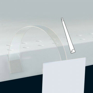 Swinger met 2 klevers, transparant kunststof, 20 cm