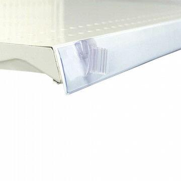 Kaartgripper schap 'Flip up budget' scharnierend, voor barcode en datarail, transparant kunststof