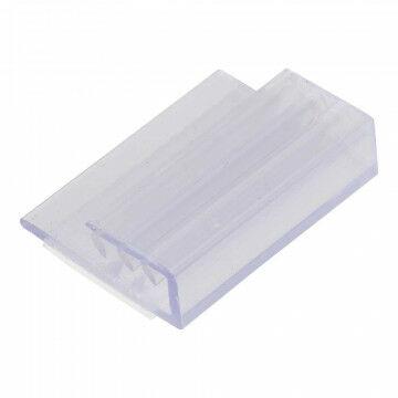 Kaartgripper vlak zelfklevend, klemt kaart tot 1.5mm dik, evenwijdig, transparant kunststof, 2.5 cm
