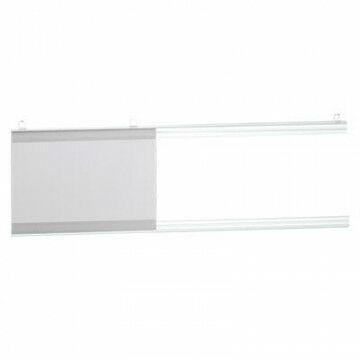 Posterklemset ZIP 2 ophangoogjes, transparant kunststof, 100 cm