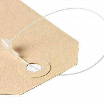 Sluitring voor o.a. leaflets, wit kunststof, 13 cm