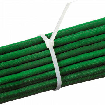 Lockstraps of tie-wraps, wit kunststof, 20 cm