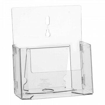 Folderstandaard 'Flatpack' hangend/staand, transparant kunststof, A5