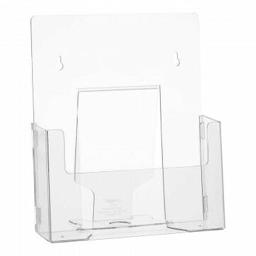 Folderstandaard 'Flatpack' hangend/staand, transparant kunststof, A4