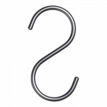 S-Haak, grijs metaal, 11 x 0.2 cm