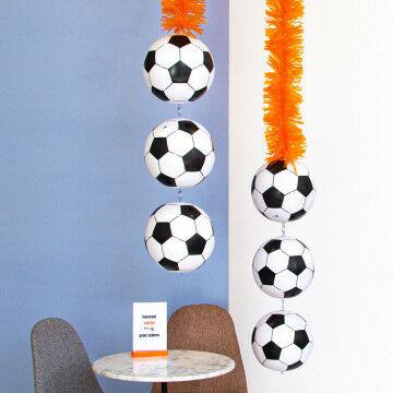 EK Voetbal oranje guirlande met voetballen