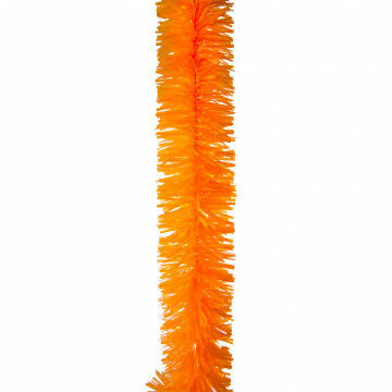 guirlande big boa, feestslinger, hoge kwaliteit , stevig materiaal, oranje kunststof, 270 x 18 cm