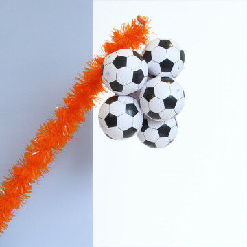EK Voetbal oranje vlaggenstok decoratie