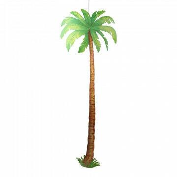 Palmboom karton, groen papier, 180 cm
