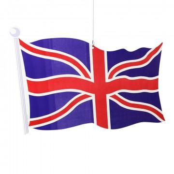 Vlag 'Groot-Brittannië', papier, 45 cm
