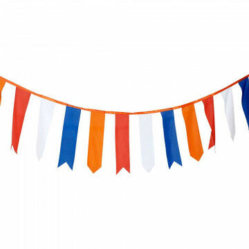wimpellijn holland rood/wit/blauw/oranje wimpels en uv-bestendig, multicolor textiel, 1000 x 60 cm