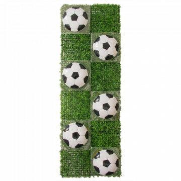 graspaneel met voetballen geschikt voor op de gevel, groen kunststof, 240 x 80 cm