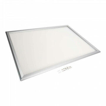 Wissellijst 'Snaplock' enkelzijdig, melkwit achterpaneel, aluminium lijst, zilver metaal, A1, 84 x 60 cm