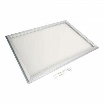 wissellijst snaplock enkelzijdig, melkwit achterpaneel, aluminium lijst, zilver, A2, 60 x 42 cm