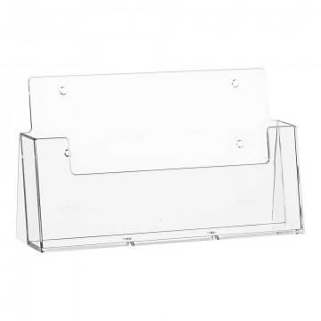 Folderstandaard 'Basic' liggend, vulmaat 230x32mm, transparant kunststof, 3.2 x 23 cm
