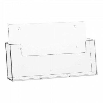 Folderstandaard liggend, vulmaat 230x32mm, transparant kunststof, 3.2 x 23 cm