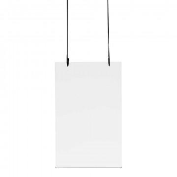 Kaarthanger staand, met 2 boorgaten, transparant kunststof, A6, 15 x 10.5 cm