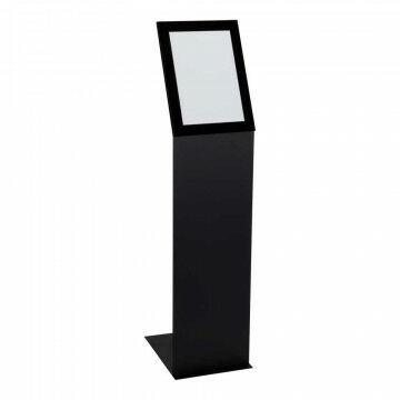 Infozuil Focus portrait, zwart metaal, A4, 30 x 21 x 110 cm