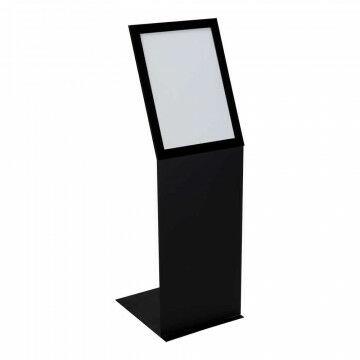 Infozuil Focus portrait, zwart metaal, A3, 42 x 30 x 110 cm