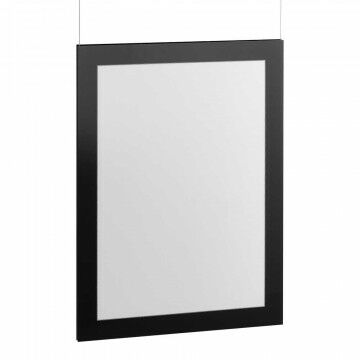 Lijst Focus koppelbaar en geschikt voor wandbevestiging, zwart kunststof, A3, 42 x 30 cm