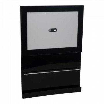 Lijst Focus met brochurehouder, zwart kunststof, A4, 30 x 21 cm