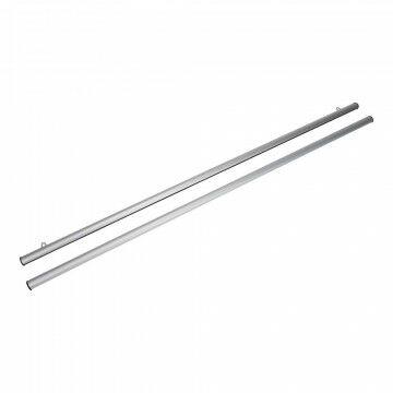 Posterklemset Pro inclusief ophangogen, zilver metaal, 120 cm