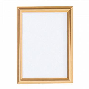 wissellijst snaplock enkelzijdig, melkwit achterpaneel, aluminium lijst, koper metaal, A4, 30 x 21 cm