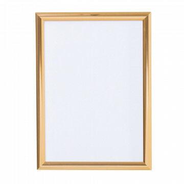 wissellijst snaplock enkelzijdig, melkwit achterpaneel, aluminium lijst, koper metaal, A3, 42 x 30 cm