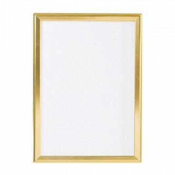 wissellijst snaplock enkelzijdig, melkwit achterpaneel, aluminium lijst, goud metaal, A2, 60 x 42 cm