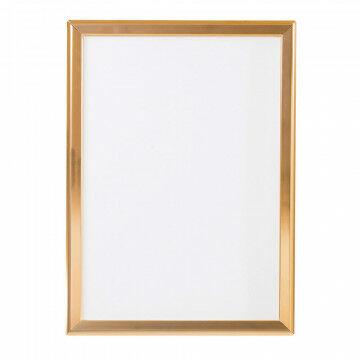 wissellijst snaplock enkelzijdig, melkwit achterpaneel, aluminium lijst, koper metaal, A2, 60 x 42 cm