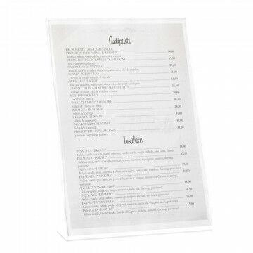 showcardstandaard voor schuin staande communicatie-uitingen, transparant acrylaat, A4, 30 x 21 cm