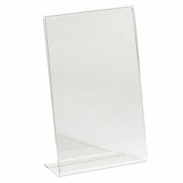 Showcardstandaard schuin, transparant kunststof, A6, 10.5 x 15 cm