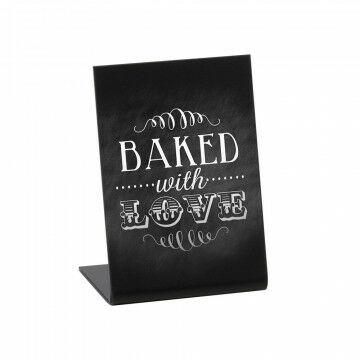 krijtbord l-standaard acryl mat zwart, zwart acrylaat, 7.4 x 10.5 cm