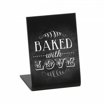 krijtbord l-standaard acryl mat zwart, zwart acrylaat, 5.2 x 7.4 cm