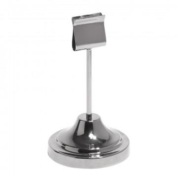 kaarthouder parijs, zilver metaal, 8 cm