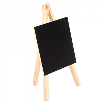 mini krijtbordje geeft je prijscommunicatie een ambachtelijke look, naturel hout, 10 x 17 x 25 cm
