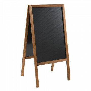 a-standaard met krijtbord finish en waterproof gemaakt, naturel hout, 4 x 61 x 118 cm